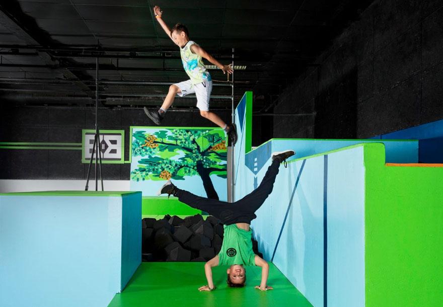 duo handstand en sprong