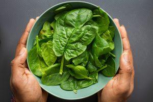 gezonde spinazie